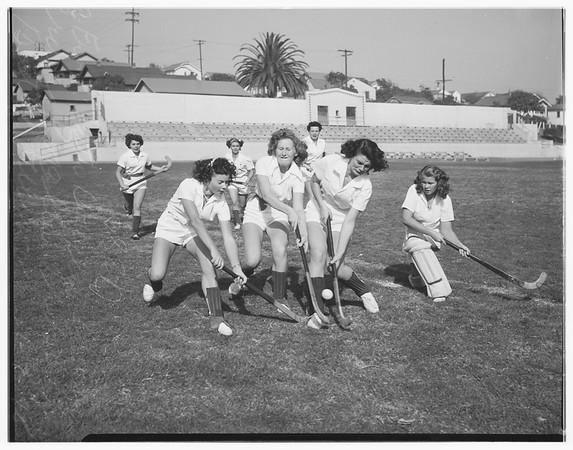 El Segundo girls physical education, 1948