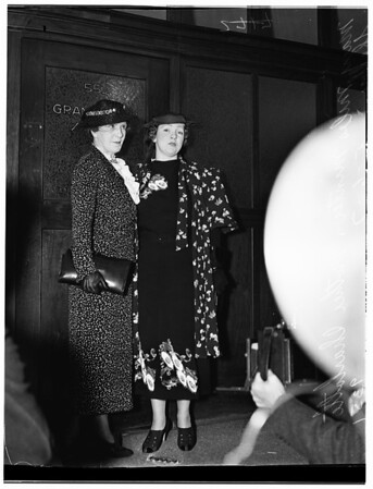 Mary Miles Minter, and mother, 1937