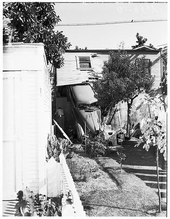 Car through garage (Coronado Terrace), 1951