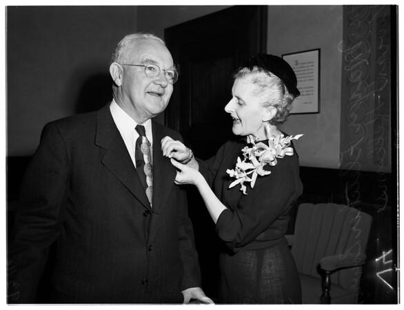 Visits mayor, 1951.