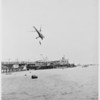 Air-Sea rescue demonstration (Santa Monica) Coast Guard helicopter, 1951