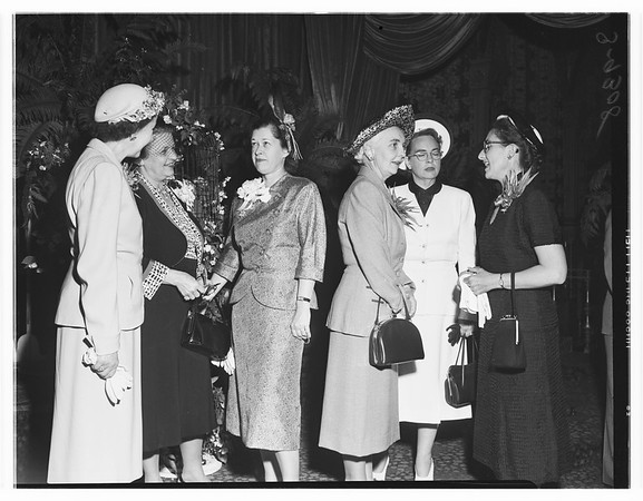 Club activity, Women's Medical Auxiliary covention at the Biltmore Hotel, 1951