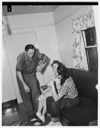 Father beats up daughter and wife, 1951