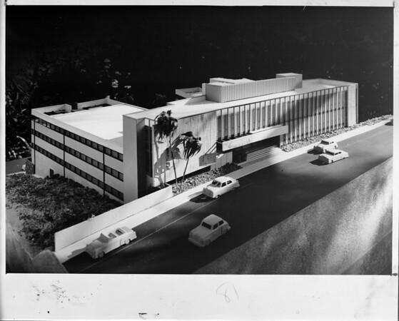 Sunset Crest building, 8400 Sunset Blvd., Los Angeles, 1956