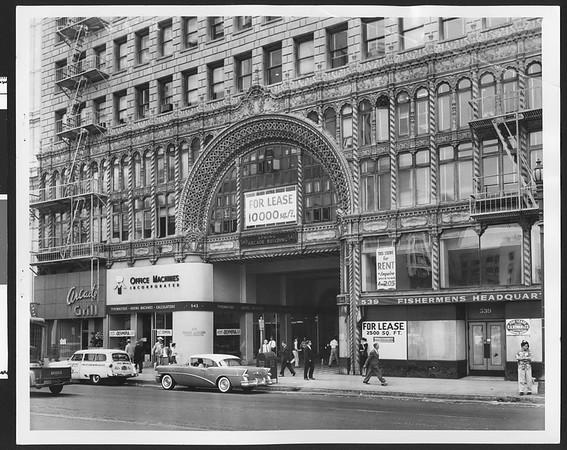 Arcade Building, Spring St., Los Angeles, 1957