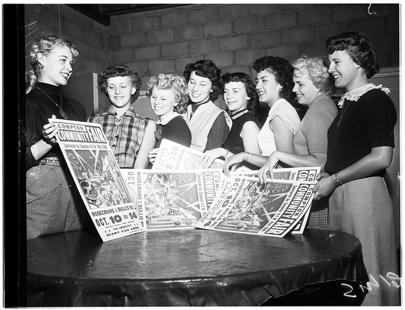Compton Community Fair Queen contestants, 1951