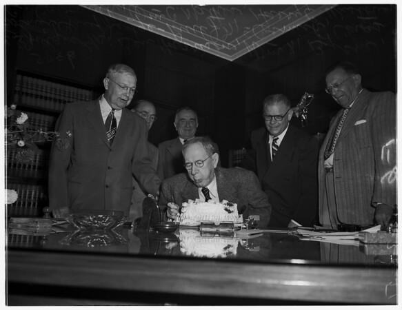 Eightieth birthday for Cavanah, 1951
