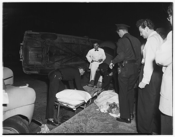 Traffic accident (West Adams and 12th Avenue), 1951