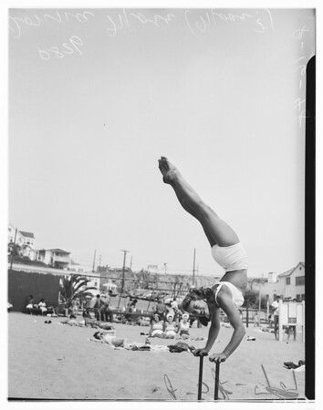 Santa Monica beach sports, 1948