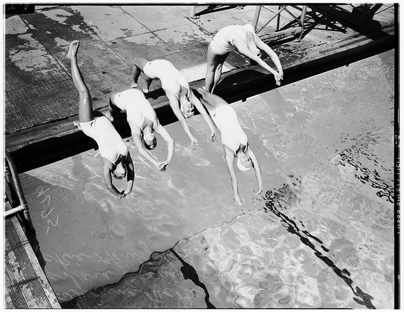 Los Angeles City Pool Aquettes, 1948