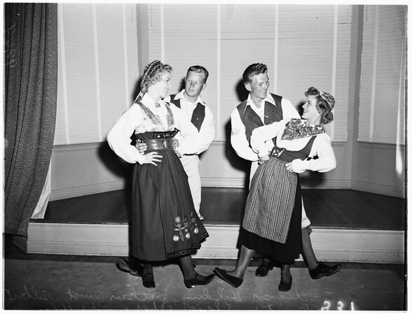 Swedish folk dancers, 1951