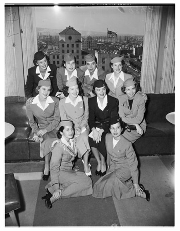 """Wings Over the Nation"" (Airline Stewardesses) Long Beach, 1951"