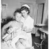 Kid stung by bees, 1951