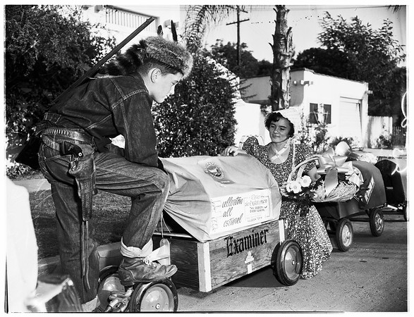 Welcome wagon...Fullerton Fall Festival, 1951