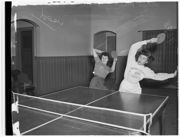Poinsettia table tennis club, 1949
