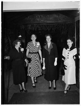 Cub Activity (Delta Kappa Gamma Sorority Tea) (Huntington Hotel), 1951