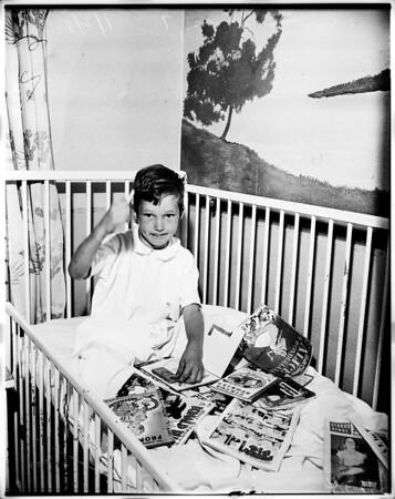 Boy fell on head, 1951