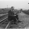 Southern Pacific conductor retires after 45 years, 1951