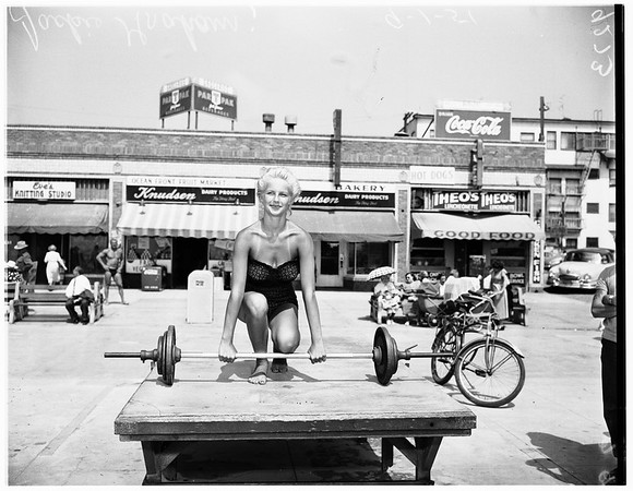 """Miss Muscle Beach"" contest, 1951"