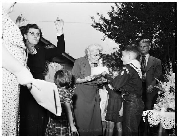 Mrs. Margaret Heath's birthday...Baldwin Park, 1951
