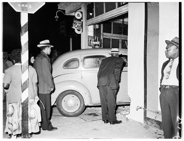 Accidents (Auto into store at Vernon Avenue and McKinley Avenue), 1951