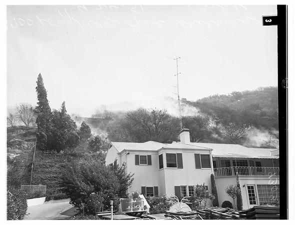 Fire at 3700 Longridge Avenue, Sherman Oaks, 1951