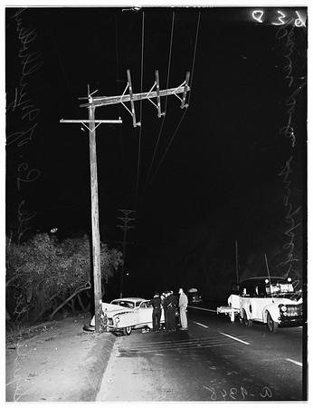 Traffic...Sepulveda Boulevard One Mile South of Mulholland Drive, 1951