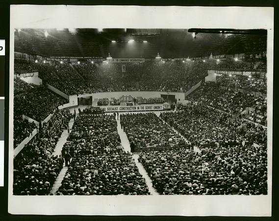 Communist Party honoring Lenin, Madison Square Garden, New York, 1931