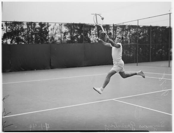 Beverly Wilshire Hotel tennis, 1949