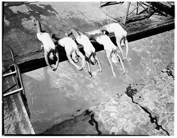 Los Angeles City Pool Aquettes, 1948