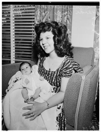 Serviceman's baby, 1951