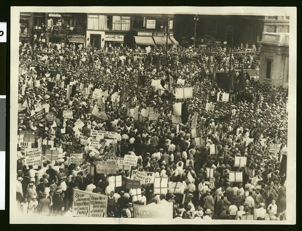 Communist rally, Union Square, San Francisco, 1932