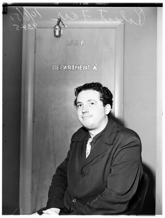 Burglary suspect...Santa Monica...Beverly Hills suspect, 1951.