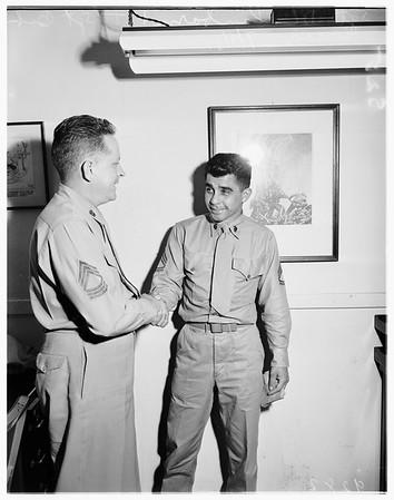 Sergeant Ward back in Marines, 1951