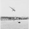 Air-Sea rescue demonstration (Santa Monica) Coast Guard helicopter, 1951