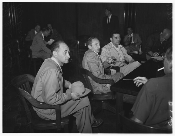Reds arrested...United States Commissioner's Office, 1951