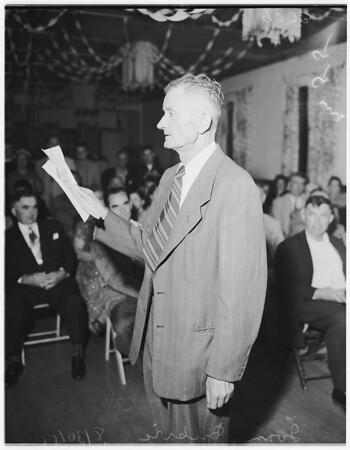 Artukovich protest meeting, 1951