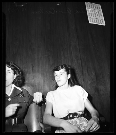 Carlson burglary hearing, 1951.