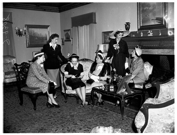 Planning Tea Party, 1951