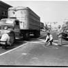 Traffic -- San Fernando (two trucks -- one cotton truck) (Two women were struck in cross walk), 1951