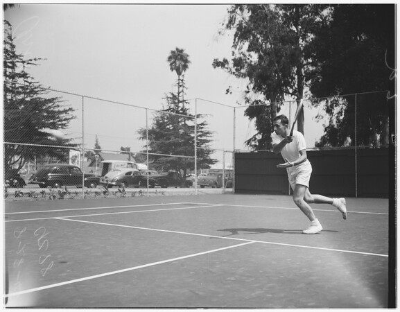 Santa Monica tennis tournament, 1948