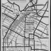 Map of parade route to Union Station, Los Angeles, 1939