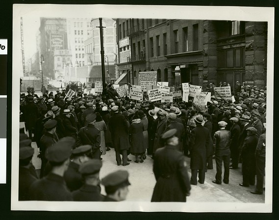 Communists protest on march to State Building, New York, 1932