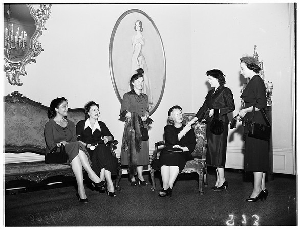 Social Service Auxiliary Meeting...California Club, 1951