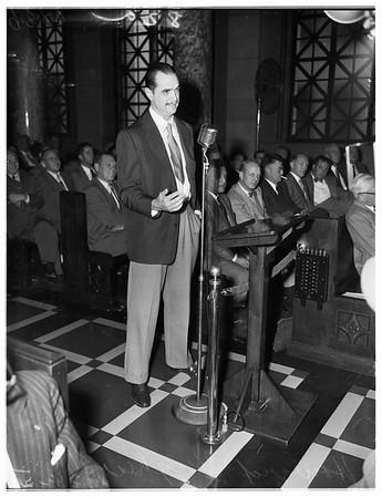Hughes at City Council, 1951