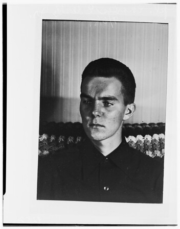 Absent without leave Marine back from Korea, 1951