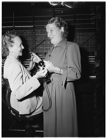 Retires from Los Angeles County Phone Room, 1951