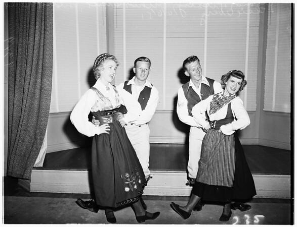 Swedish folk dancers, 1951