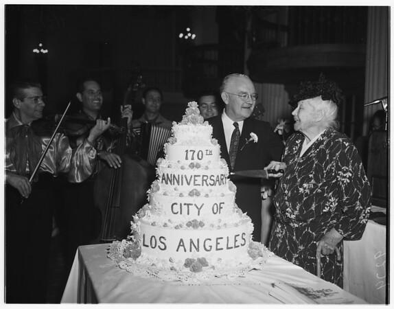 Los Angeles birthday breakfast...Biltmore Hotel, 1951