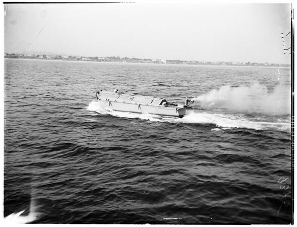 Robot water sampler test (Long Beach), 1946..